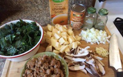 Sausage, Shiitake, & Kale Stew